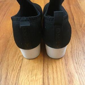 4e44b64ac95 Dkny Shoes - DKNY Angie Slip-On Wedge Sneakers Black 8.5